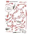 hand drawn arrows set business design element vector image vector image