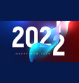 happy 2022 new year insta colour banner in color vector image
