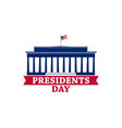 happy presidents day festive greeting card vector image vector image