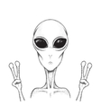 humanoid is showing a sign of peace vector image vector image