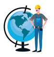 labor day job cartoon vector image vector image