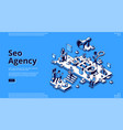 landing page for seo agency vector image