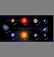 life cycle of a star vector image vector image