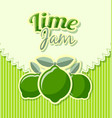 lime jam label vector image vector image