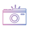 line digital camera to take a picture art vector image vector image