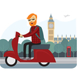 Londoner on scooter
