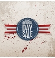 memorial day sale national banner with text vector image