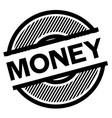 money black stamp vector image vector image