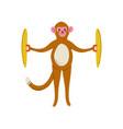 monkey playing cymbals cute cartoon animal