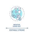 negative covid19 test concept icon vector image