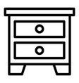 nightstand icon outline style vector image vector image