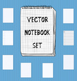 Notebook Notepad Set Include realistic hand drawn vector image vector image