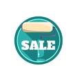 Painting Roll Sale Sticker vector image