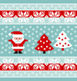 pattern for knitting with santa claus vector image vector image