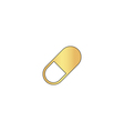 Pill computer symbol vector image vector image