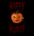 poster concept design for halloween banner vector image