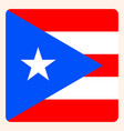 puerto rico square flag button social media vector image