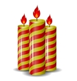 Red Yellow Wax Candles Set vector image