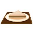 sandwich on plate scene vector image vector image