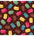 Seamless pattern with tasty macaroons vector image vector image