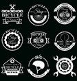 set bicycle service badges labels logo vector image vector image