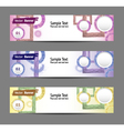 set of colorful banners eps 10 vector image vector image