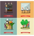 set school concept design elements vector image