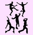 silhouette of male dancer 02 vector image vector image