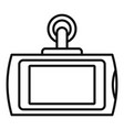 smart car dvr icon outline style vector image vector image