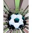 Soccer Ball on Rays Background7 vector image vector image