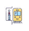 subway rgb color icon vector image vector image