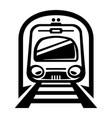 subway train light rail car icon vector image vector image