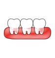 teeth icon image vector image