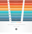 template infographic Colour strips 8 position vector image vector image