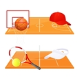 Tennis and basketball backgrounds vector image vector image