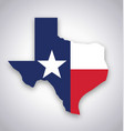 texas tx state flag map vector image vector image