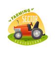 tractor emblem vector image