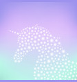 unicorn sparkling silhouette vector image vector image