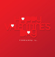 Valentines day design vector image vector image