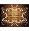 vintage floral frame with damask background vector image vector image