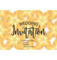 wedding invitation with gold flowers vector image vector image