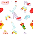 Wedding pattern cartoon style vector image vector image
