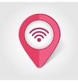 Wi-Fi map pin icon vector image vector image