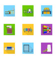 wool tangle machine and other web icon in flat vector image vector image