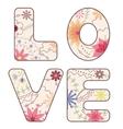 word love painted vintage vector image