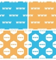 WWW pattern set colored vector image vector image