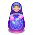 Russian traditional matryoshka folk doll vector image