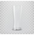 Transparent glass goblets vector image