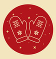mittens icon in thin line style vector image