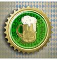 cap for beer bottles vector image